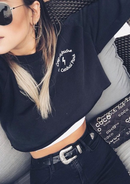 COUP DE FOUDRE A CENTRAL PARK | CROP TOP SWEATSHIRT