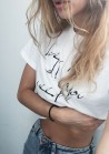 LOVE IS ALL YOU NEED  | WHITE CROP TOP
