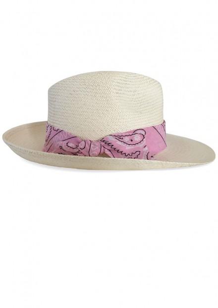 Natural Bellerose x Pink Bandana    Authentique Panama