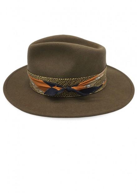 Camel Bellaire x Vintage Silk Scarf