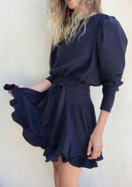Robe Valentina - Bleu nuit