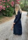 Robe Isabella - Bleu nuit