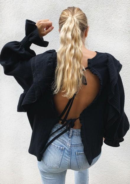 Blouse Gilda - Noir
