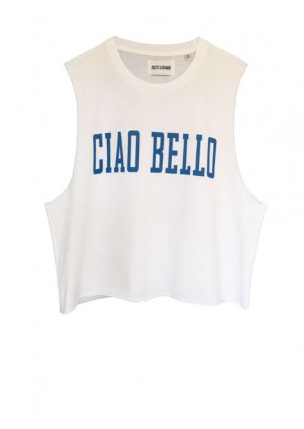 CIAO BELLO  | WHITE CROP TOP