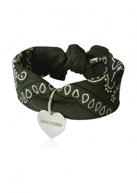 Amour | Bandana Choker | Médaille Argent Massif 925 personnalisable