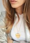 Amour   Médaille plaqué Or 18 carats personnalisable